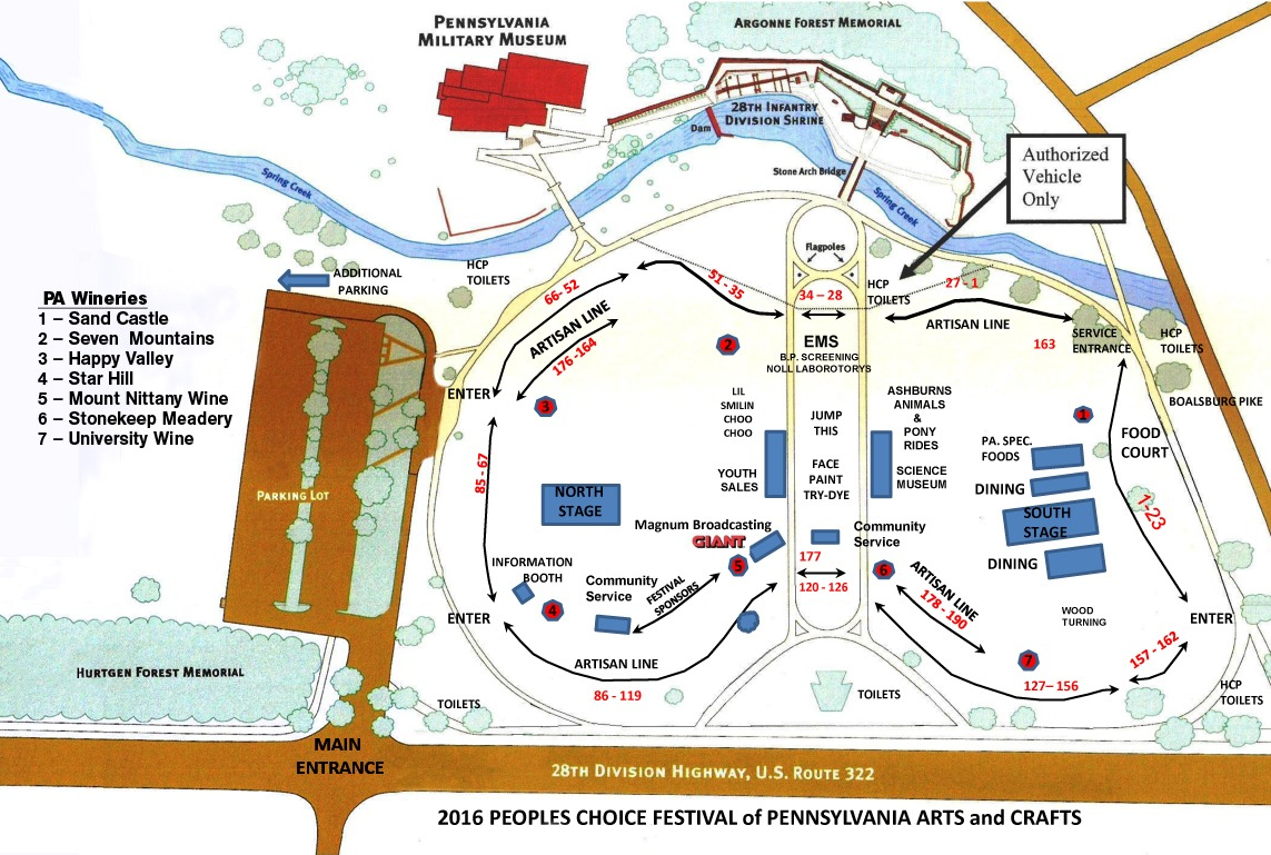 Event Map : People's Choice Festival on
